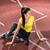 nő · meleg · felfelé · testmozgás · futás · stadion - stock fotó © kzenon