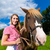 equitación · caballo · pradera · jóvenes · mujer · bonita - foto stock © kzenon