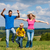 family having walk on meadow stock photo © kzenon