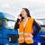 sofőr · teherautók · logisztika · büszke · teherautó · ipar - stock fotó © kzenon