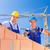 építkezés · munkások · épület · ház · állvány · kettő - stock fotó © kzenon