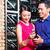 asian couple holding wine bottle in restaurant stock photo © kzenon