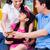 asian · familie · online · winkelen · creditcard · gelukkig - stockfoto © kzenon