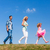 family walks in single file stock photo © kzenon