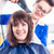 hairdresser blow dry woman hair in shop stock photo © kzenon