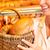 női · pék · pékség · elad · kenyér · kosár - stock fotó © kzenon