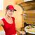 ピザ · 配信 · 女性 · ホット · 孤立した - ストックフォト © kzenon