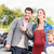 mother father and child buying car at dealership stock photo © kzenon
