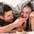 casal · café · da · manhã · mulher · homem · relaxar · casais - foto stock © kzenon