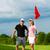 jonge · paar · spelen · golfbaan · golf · oefening - stockfoto © kzenon
