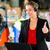 телефон · склад · дружественный · женщину · руководитель · сотового · телефона - Сток-фото © kzenon