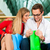 Man and woman in shopping mall with bags stock photo © Kzenon