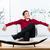 男 · 座って · ソファ · 家具 · ストア · ショールーム - ストックフォト © kzenon