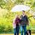 femme · homme · marche · chien · automne · pluie - photo stock © kzenon