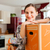 woman with moving box in her house stock photo © kzenon
