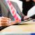 onderhandeling · ondertekening · contract · gewas · persoon - stockfoto © kzenon