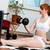 行使 · ホーム · 美しい · 筋肉の · 少女 · トレーニング - ストックフォト © kzenon