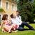 ouders · kind · zitten · gras · baby · liefde - stockfoto © kzenon
