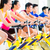 Asian people in spinning bike training at fitness gym stock photo © Kzenon