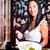 serveuse · sushis · asian · restaurant · dîner · Ouvrir · la - photo stock © Kzenon