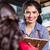 waitress in indian restaurant taking orders stock photo © kzenon