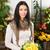 femenino · florista · vivero · amarillo · rosas - foto stock © Kzenon