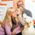 család · rocker · ló · szülők · lánygyermek · játszik - stock fotó © Kzenon