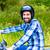 bicicleta · isolado · branco · acelerar · motocicleta · sujeira - foto stock © kzenon