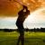 jovem · jogador · de · golfe · golfe · balançar - foto stock © kzenon