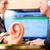 fül · hallókészülék · közelkép · fotó · orvosi · otthon - stock fotó © kzenon