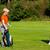 paar · lopen · golfbaan · man · vrouw · praten - stockfoto © kzenon