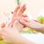 femme · main · massage · manucure · fleurs - photo stock © Kzenon