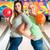 młodych · kobiet · gry · bowling · młodych · ludzi · znajomych - zdjęcia stock © kzenon