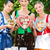 women in traditional bavarian clothes in beergarden stock photo © kzenon