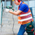 asian worker drilling in construction site wall stock photo © kzenon
