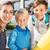 vrouw · kinderen · dag · school · glimlachend · familie - stockfoto © kzenon
