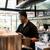 glimlachend · barman · drinken · bar · counter · shirt - stockfoto © kzenon