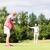 golf · donna · palla · uomo · bandiera · giocatore - foto d'archivio © kzenon