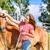 lovas · ló · istálló · nő · fiatal · lovak - stock fotó © kzenon
