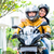 menina · equitação · motocicleta · fundo · ver - foto stock © kzenon
