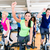 group of men and women spinning on fitness bikes in gym stock photo © kzenon