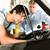 hombre · maduro · mecánico · mirando · coche · motor · maduro - foto stock © Kzenon