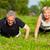 mature couple doing sport   pushups stock photo © kzenon
