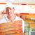 delivery service   man holding pizza boxes stock photo © kzenon