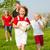 familia · jugando · familia · feliz · fútbol · uno · nino - foto stock © Kzenon
