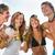 cztery · osoby · plaży · strony · grupy · cztery - zdjęcia stock © Kzenon