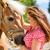 女性 · 馬 · ポニー · ファーム · 楽しい · 小さな - ストックフォト © kzenon