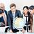 equipe · de · negócios · discutir · global · mercado · inteligência · terceirização - foto stock © Kzenon