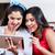 kettő · fiatal · női · legjobb · barátok · táblagép · kint - stock fotó © kzenon