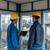 два · рабочие · желтый · синий - Сток-фото © kzenon